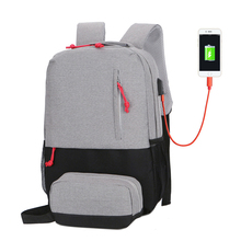 New Fashion College USB Charging Man Backapck Woman Laptop Back Pack Travel Bag School Bags For Teenage Girls Mochila Bagpack