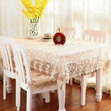 European Flower Table Cloth Country Style embroidered Multifunctional Rectangle Cover Tablecloth Home Kitchen Decoration