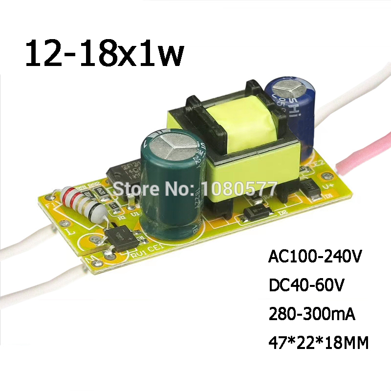 1-10pcs 1W-50W Constant Current <font><b>LED</b></font> <font><b>Driver</b></font> Lamp Power Supply 280mA 300mA 3W 5W 7W <font><b>9W</b></font> 10W 20W 30W 36W 50W Lighting Transformer image