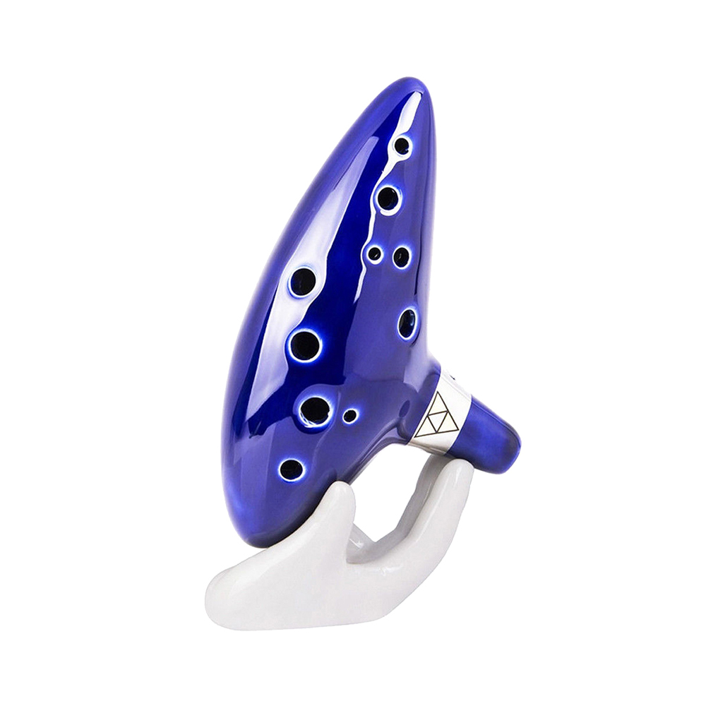 12 Hole Blue Ocarina Ceramic Alto C Legend Of Zelda Wind Excellent Instrument Inspired Of Time Musical Instrument