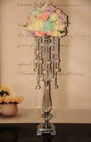 10pcs/lot wedding home party decor 70cm or 95cm acrylic crystal bead road lead table stand flower shelf centerpiece