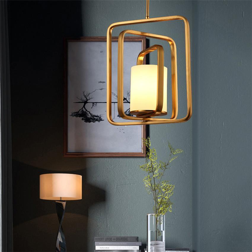 Personnalité postmoderne créative fer pendentif lumières décoratif salle à manger chambre balcon nordique créateurs de mode LU80260
