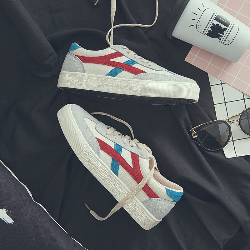 Basse Haute Et Femelle De Femmes Respirant Mode blue Automne Sport Classique Black Qualité Confortable Chaussures Printemps Aide 2018 gules Toile qOwxFpI