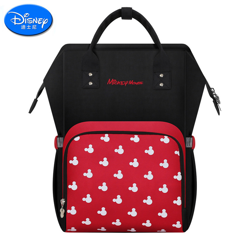 Disney Mummy Bag Baby Care Nappy Backpack Bag Large Capacity Mom Baby Multifunction Outdoor Travel Diaper Bags Red Mickey 2017 fashion mummy maternity nappy backpack bag large capacity mom baby multifunction outdoor travel diaper bags for baby care