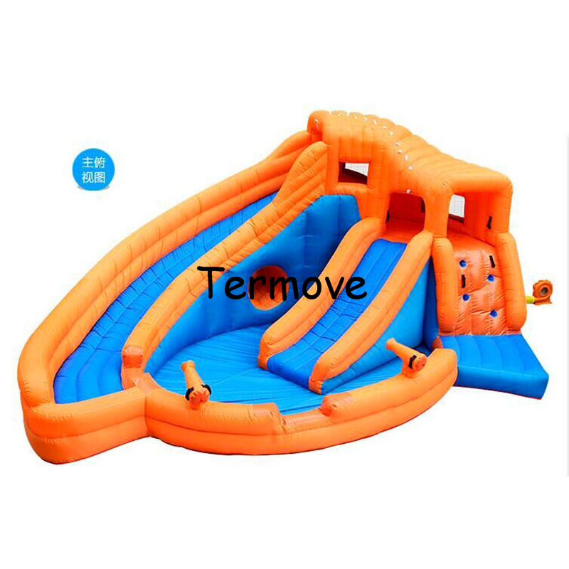 Inflatables Slides Pool For children Baby Toy Kid Inflatable Trampoline Water Gift water park Jumping And Swimming Toys For Kids children shark blue inflatable water slide with blower for pool