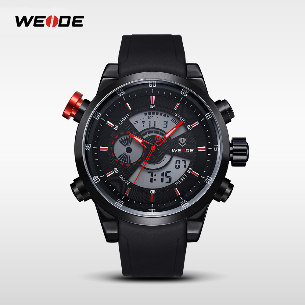 WEIDE Mens Watches Quartz Male Clock PU Strap Sport Watch Top Brand Luxury relogio masculino Military Clocks Wristwatches WH3401 weide brand men big dial luxury watch male sport watches complete calendar waterproof man clock military style relogio masculino