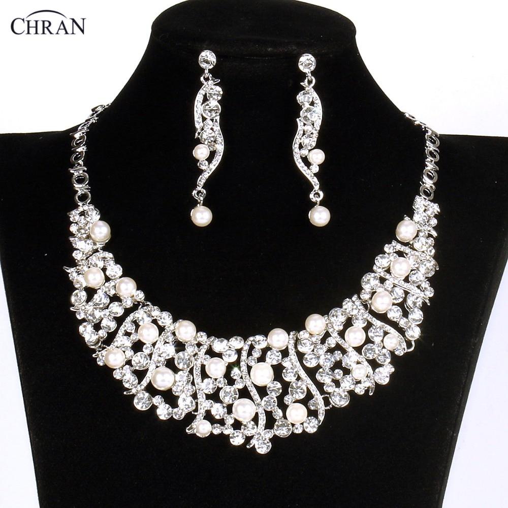 Celebrity Wedding Sets: CHRAN New Bridal Wedding Jewelry Sets Celebrity Engagement