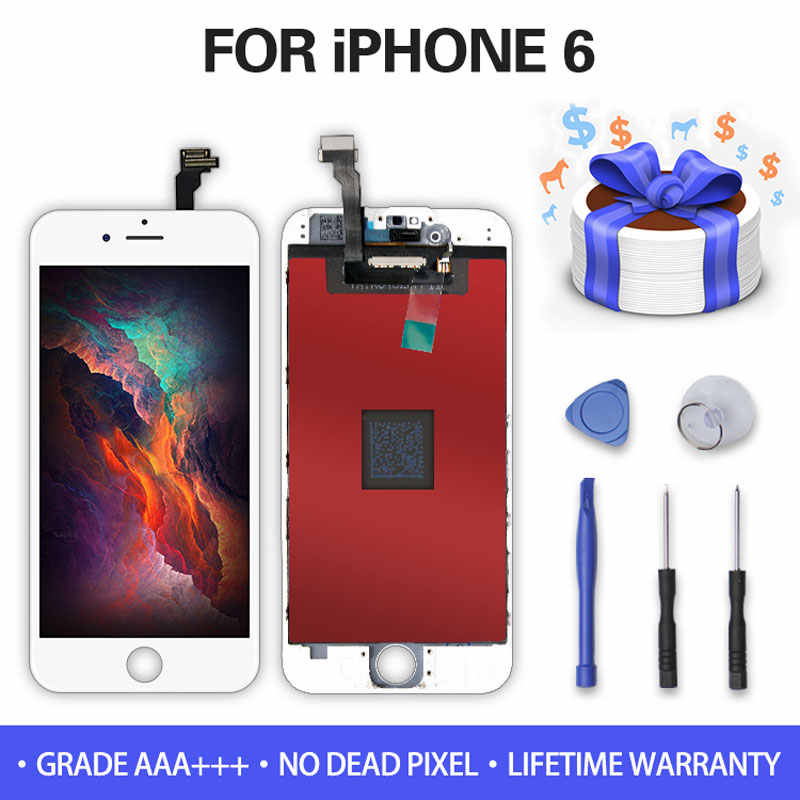 White&Black AAAAA Brand For iPhone 6/6 Plus LCD Display Screen with 3D Force Touch Screen For iPhone 5 LCD Screen+Gifts