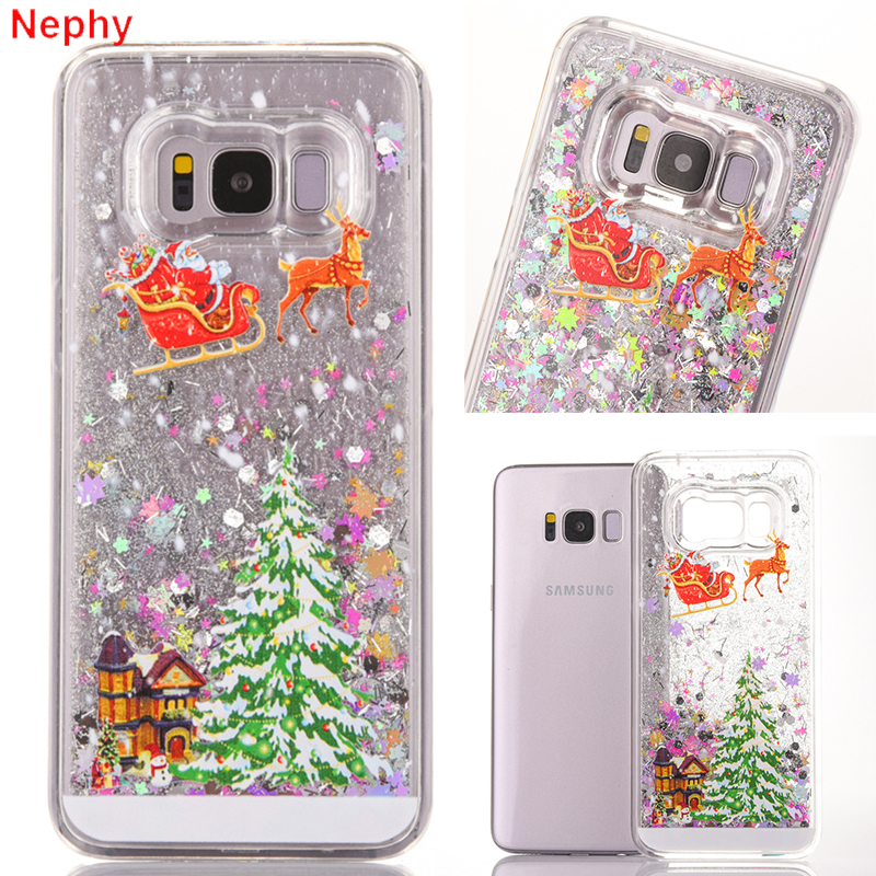 bf433abf5 Detail Feedback Questions about Christmas Gift Star Quicksand Hard plastic  Case For Samsung Galaxy S6 S7 Edge S8 Plus Note 5 Cell Phone Back clear  Funny ...