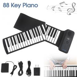 Draagbare 88 Toetsen USB MIDI Roll Up Piano Elektronische Piano Siliconen Flexibele Toetsenbord Orgel Ingebouwde Luidspreker met Sustain Pedaal
