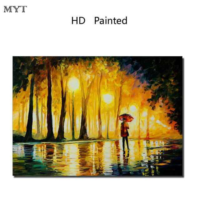 Man in Rain Street Scene 1 PCS wall art picture HD printed painting ...