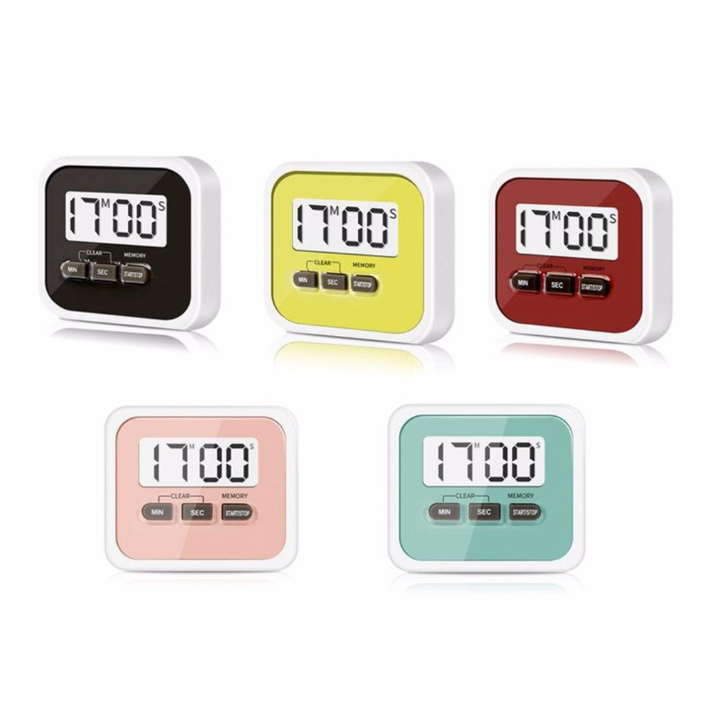 Leading Life Practical Use Digital Large LCD Display Home Kitchen Timer Electronic Kitchen Cooking Timer <font><b>Stopwatch</b></font> Cooking Tools