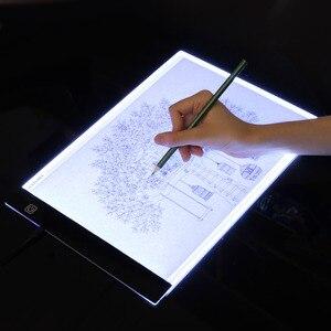 Image 2 - Orijinal dijital tablet A4 LED grafik sanatçı ince sanat Stencil çizim kurulu ışık kutusu İzleme masa ped üç seviyesi kopya