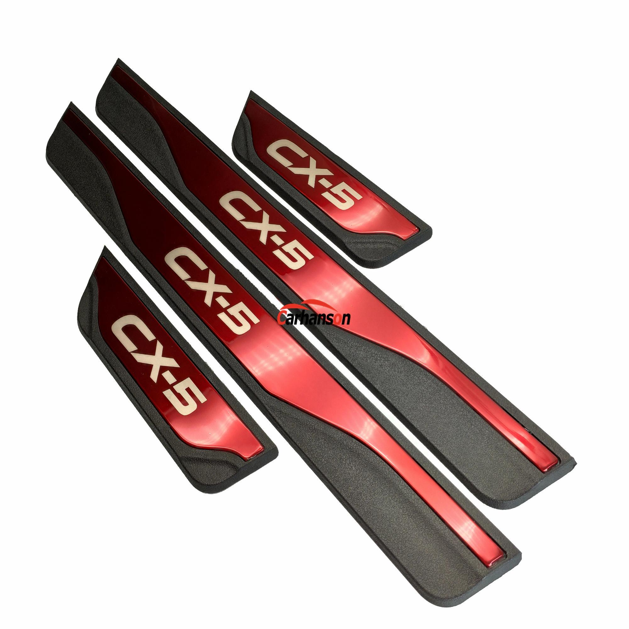Sticker For Auto Mazda CX-5 CX 5 CX5 Door Sill Strip Accessories 2017 Pedal Cover Scuff Plate Guard Protectors Car Styling 2019