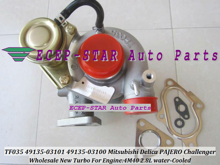 Water cooled Turbo TF035 49135-03101 49135-03100 ME201677 Turbine Turbocharger For Mitsubishi Delica PAJERO Challenger 4M40 2.8L