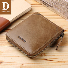 DIDE 2018 Fashion Small Men Wallets Male Genuine Leather Short Coin Purse Vintage Brand High Quality Designer