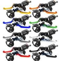 CNC Evrensel Honda CRM 250R AR Için 8 Renkler 1994 1995 1996 1997 1998 Motocross Debriyaj Fren Master Silindir Rezervuar kolları