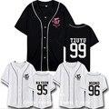 DUAS VEZES Mini TWICEcoaster LANE1 3 série com uma Camisa De Beisebol feminino de manga curta roupas de todos em torno de