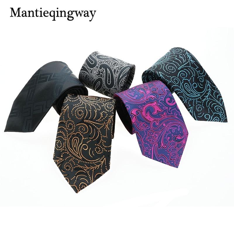 Mantieqingway Brand Ties Hombres Poliéster Corbatas Floral Gravata - Accesorios para la ropa - foto 1