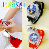 Tide children Altman watch cartoon Superman children digital electronic watch boy girl baby flip flash