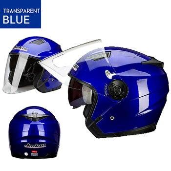 цена на Motorcycle Dual lens vintage Helmets Four Seasons Racing Half Helmets Motorbike Casco Go kart scooter motor van casque helmet