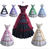 (GT003) short Sleeve Gothic Victorian Lolita Prom Dress Ball Gown Fancy Dress Halloween Party Costume