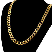 Hip Hop 12mm Thick Gold Color Stainless Steel Long Gold Chain For Men Curb Cuban Link Chain Necklaces Male Jewelry Collar(China)