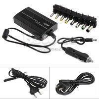 Для ноутбуков в автомобиль DC 12 V Зарядное устройство Тетрадь адаптер переменного тока Питание 100 W Универсальный R02 Прямая поставка