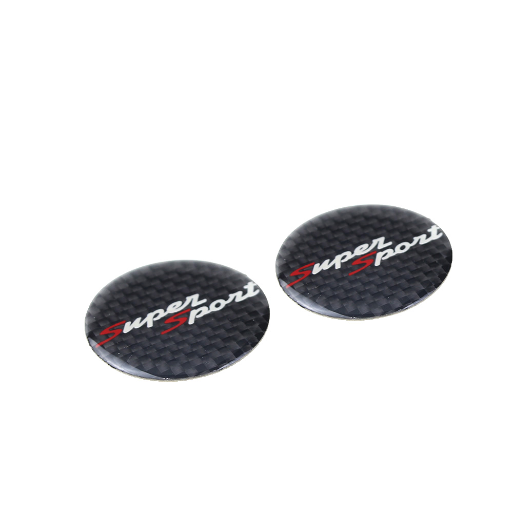 KODASKIN Motorcycle 3D Carbon Timing Belt Cover Front and Rear Round Decal for Super Sport in Decals Stickers from Automobiles Motorcycles