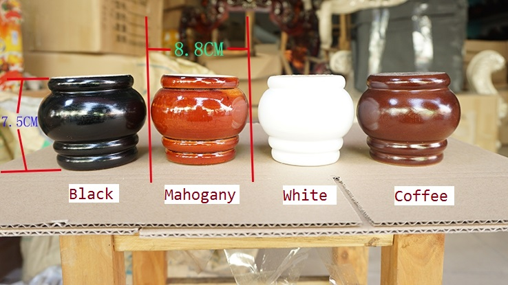 4Pcs/Lot Premintehdw Dia88*H75mm Solid Wood Sofa Cupboard Cabinet Furniture Leg Feet Pla ...