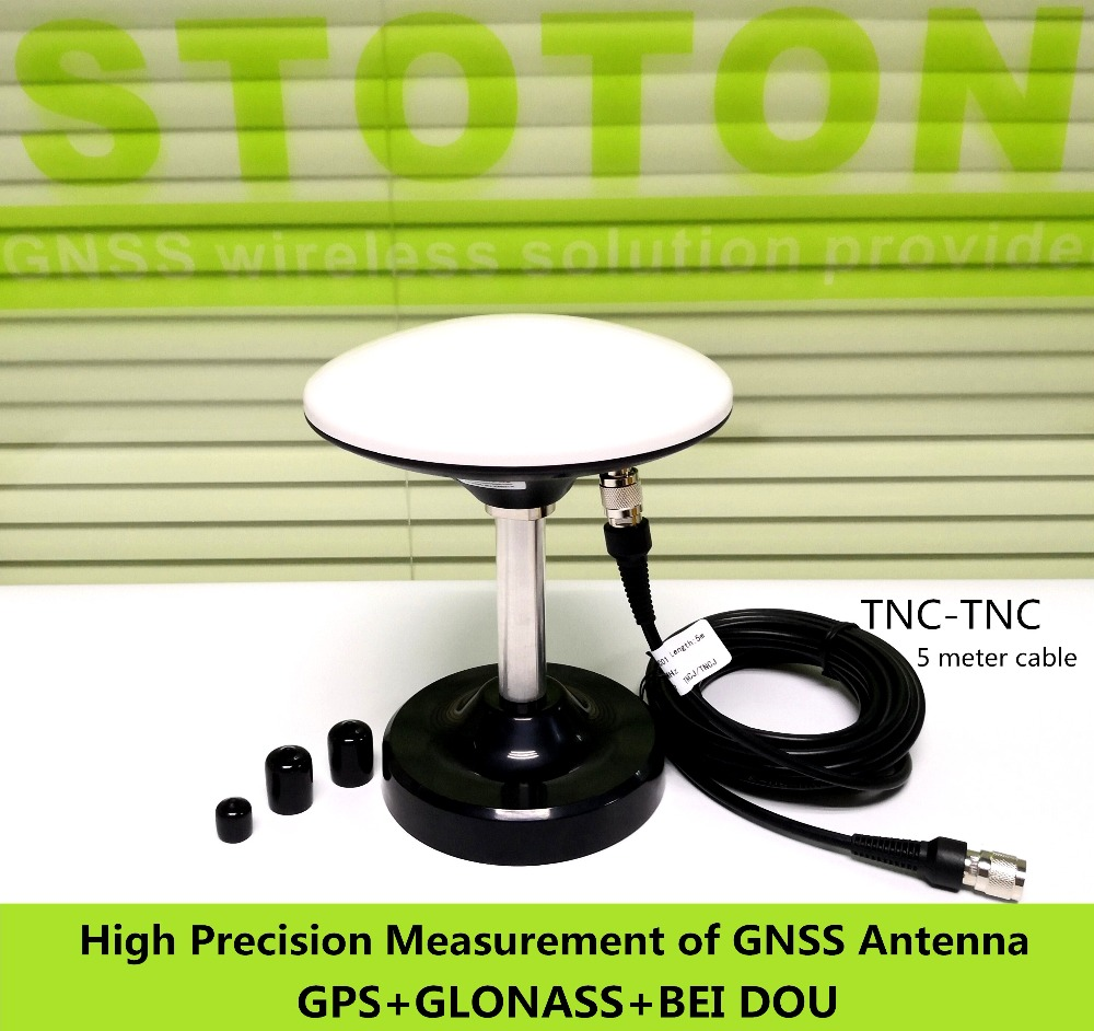 2PCS High Gain Seven-frequency GNSS antenna,GPS Glonass Beidou,RTK receiver antenna,GN-GGB307, 5m TNC-TNC cable,Magnetic base new 50m 164ft gps antenna cable for leica trimble topcon gps tnc m tnc m