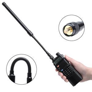 Image 3 - Abbree AR 148 Zwanenhals Sma Female Dual Band 144/430Mhz Opvouwbare Cs Tactische Antenne Voor Baofeng Kenwood Walkie talkie Radio