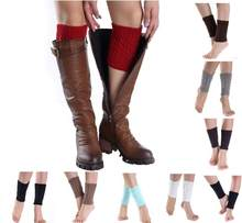 NEW Style Short Knitting Socks Leg Warmers Boot Cover Calf Protecttion Thermal Elastic Women Socks Breathable Sock Meias Hocok(China)