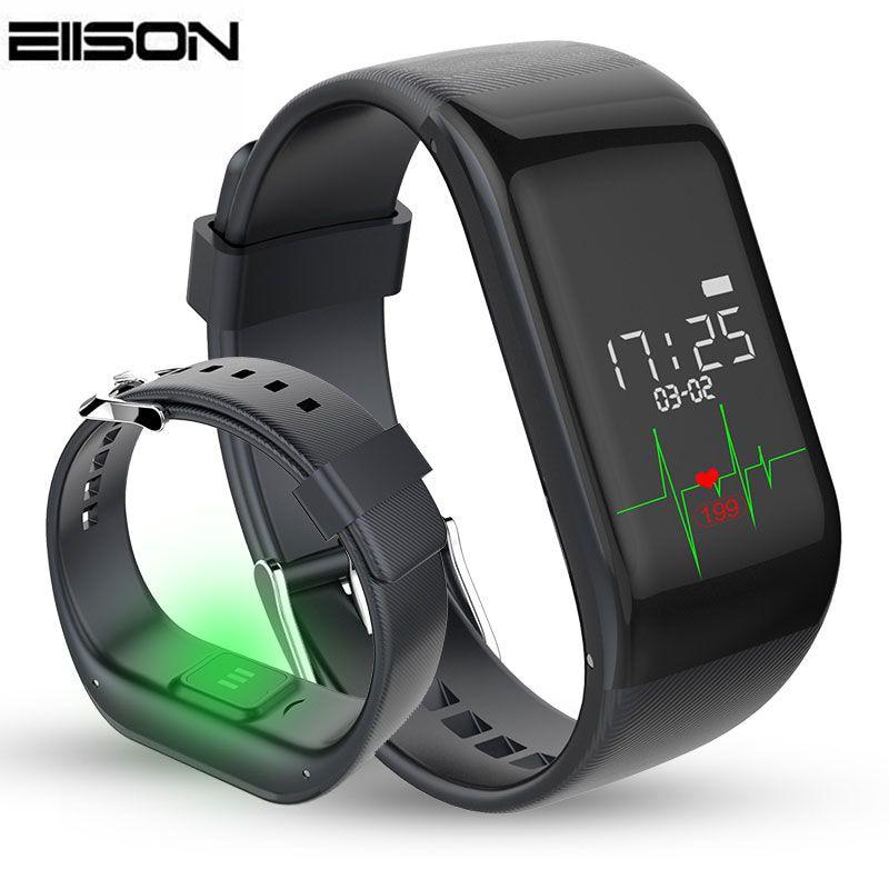 imágenes para R1 de Banda inteligente Pulsómetro Pulsera de Fitness Bluetooth Pasómetro Pulsera para iPhone Samsung