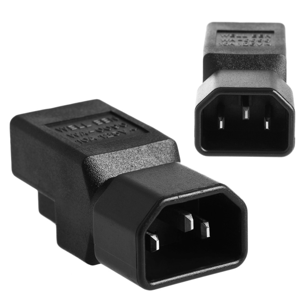IEC 320 C14 Male To Nema 5-15R USA Female Power Adapter Converter For UPS/PDU free shipping iec 320 c14 to saa australia 3 pin female power adapter for pdu ups ac plug converter wpt604 page 9