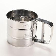 Горячая чашка с фильтром Мука сито для Муки Болт сито ручной сахарной глазури шейкер из нержавеющей стали форма чашки Кондитерские щетки Tamizador