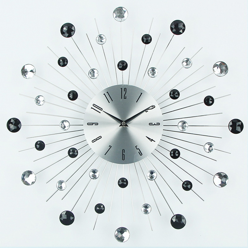 Wall Clock Art Design : Aliexpress buy luxury design large metal art wall