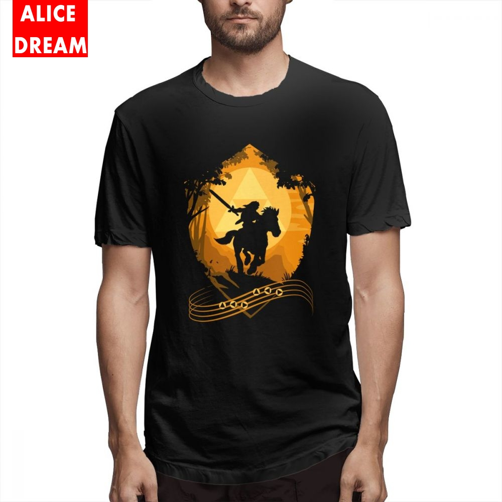 The Legend Of Zelda   T     shirt   Link Boy Epona's Song   T  -  shirt   Unique Design   T     Shirt   100% Cotton Plus Size Homme Tee   Shirt