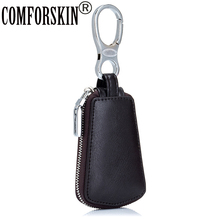Fashion Simple Style Split Leather Key Case Unisex Multinational Brand New Keeper Design Wallet For Car