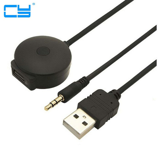 USB & 3 5mm AUX para Audio Bluetooth Aux Cabo Adaptador Femea Para O Carro  BMW Mini Cooper