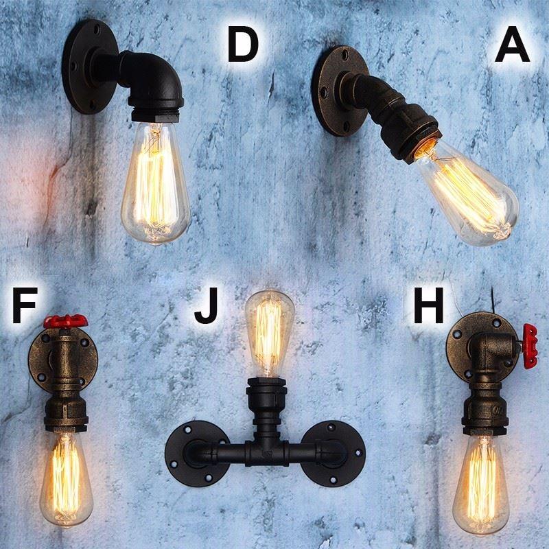 Lamp base e27 vintage antique antique industrial retro for Industrial pipe light socket