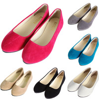 Hot 2017 New Fashion Women Lady Boat Shoes Casual Flat Ballet Slip On Flats Loafers