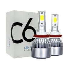2PCs 9 36V LED C6 Car  Headlight LED Light 36W Automatic Headlamp 6000K Light H1 H3 H7 H11 H13 9004 9005 9006 36W 3800LM Bulb