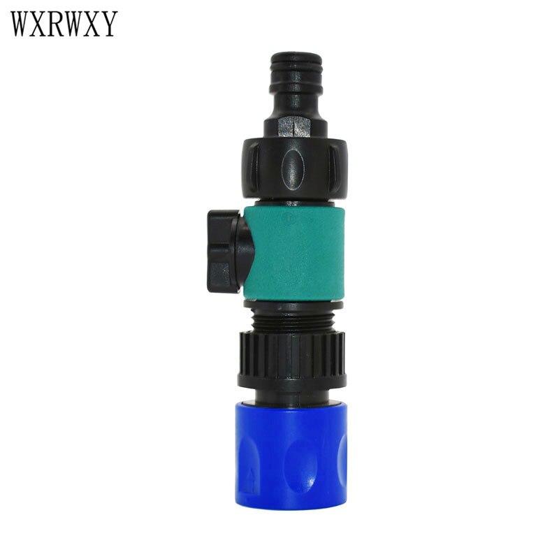 Wxrwxy 3/4 Mannelijke Irrigatie Klep Wasstraat Waterpistool Adapter 2 Way Tap Kranen Amerikaanse Standaard Schroefdraad Adapter 1 Stks