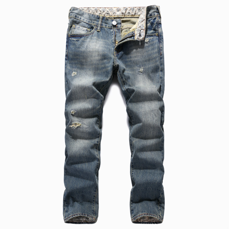 ФОТО New men's jeans do old hole beggars jeans