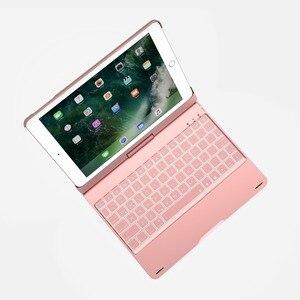 Image 4 - Coque avec clavier Bluetooth rotatif à 360 degrés, 7 couleurs, rétroéclairé, coque pour Apple iPad 9.7, 2017, Air 2, 5, 6 Pro 2018