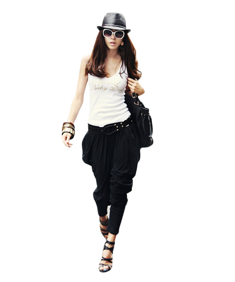 2016 New Fashion Women Stretch Street Style Casual Baggy Hip Hop Loose Leisure Harem Pants