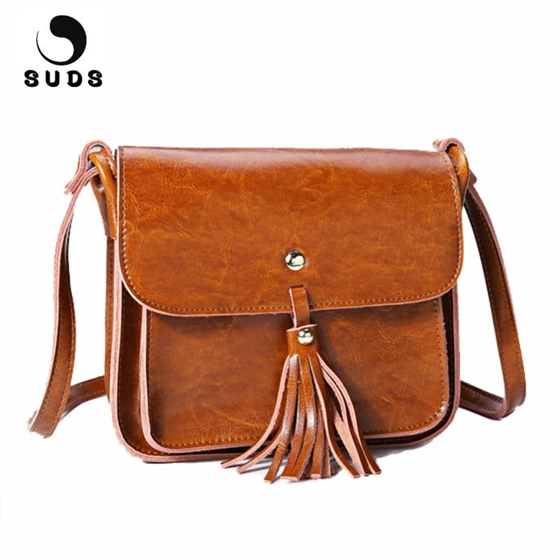 Пены бренд Пояса из натуральной кожи Для женщин Курьерские сумки Высокое качество Crossbody Travel Bag женский телячья кожа кисточкой небольшой Сум...