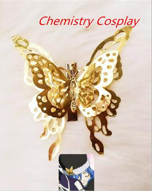 Fairy Tail Juvia Lockser Cosplay butterfly hairpin