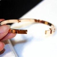 Модные расширяемые провода Открытый браслет Manchette для женщин обувь для девочек Любовь ремень браслеты на запястье кнопки ювелирны